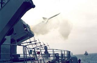 Misil Exocet y Aspide de la Armada Argentina
