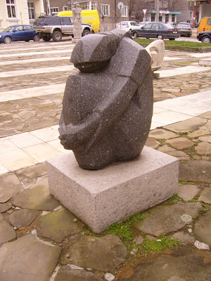 Yambol's Museum Statue - Huddled In A Ball