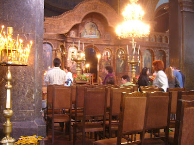 Inside Yambol's St Nikolai Church