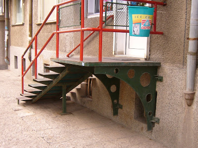 A Lovely Iron Stairway To A Yambol Shop