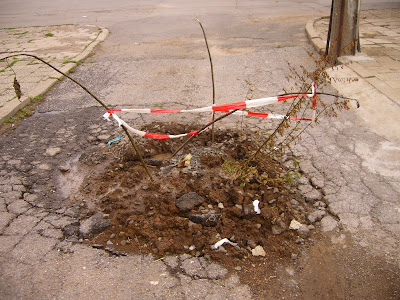 A Filled Hole In The Road In Yambol
