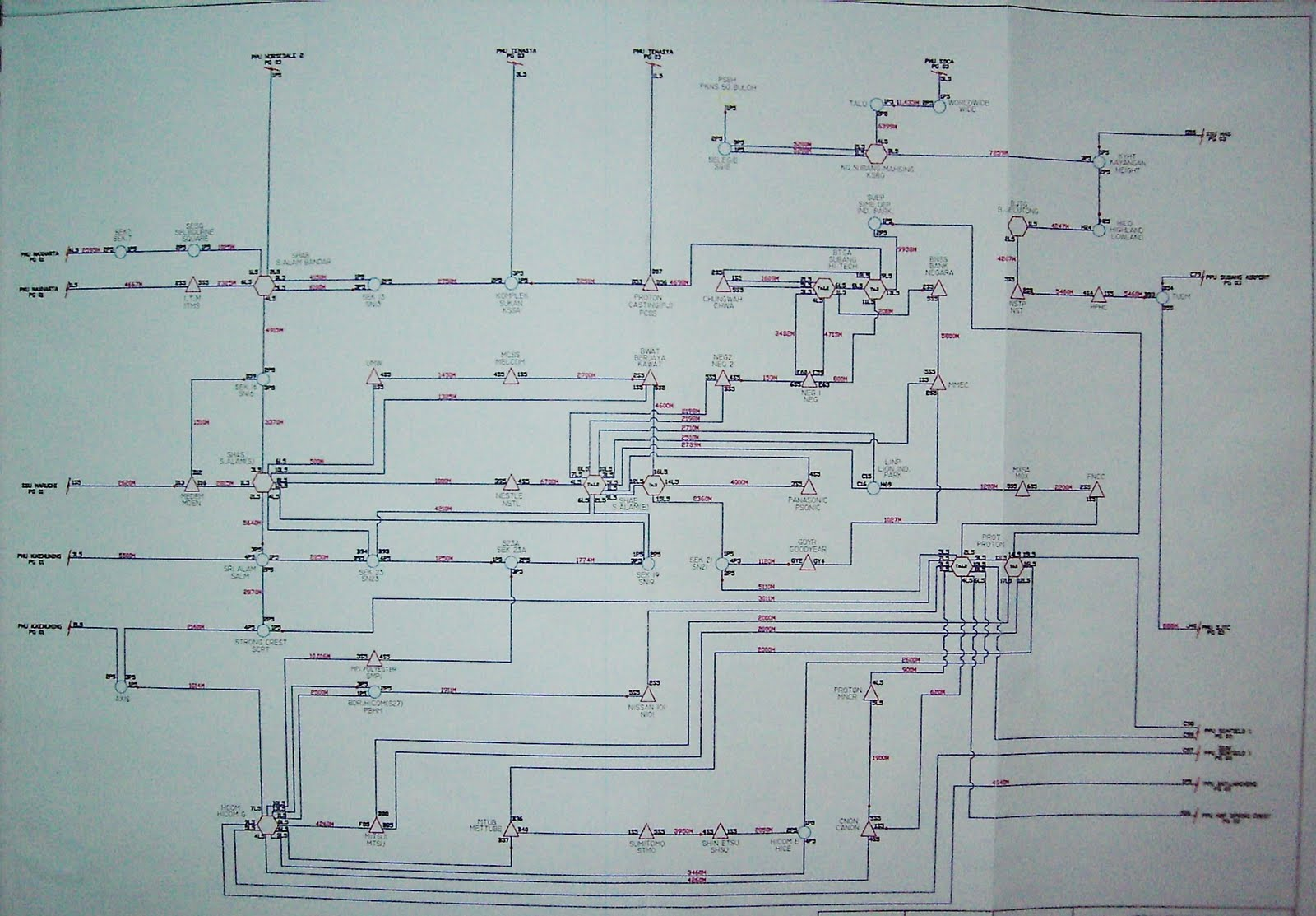 hight resolution of single line diagram