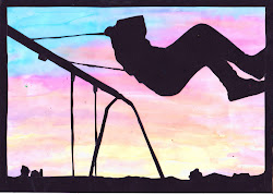 silhouette projects project simple sunset watercolor easy paper paintings drawing silhouettes november drawings idea spray sillhouette swing digital cut paint