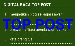 Membuat Top Posting