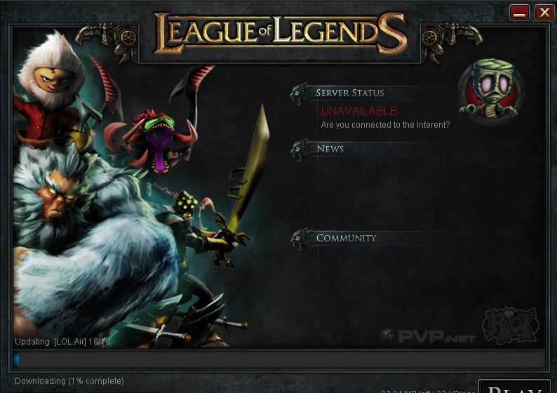 League Of Legends Crash
