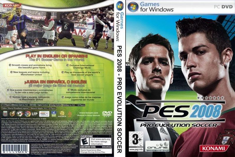 تحميل لعبة Pro Evolution Soccer 2008 مضغوطة باقل حجم 2 7