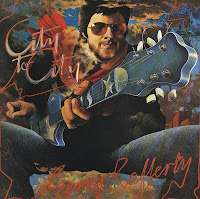 Gerry Rafferty en la pintura de la portada del disco City to City