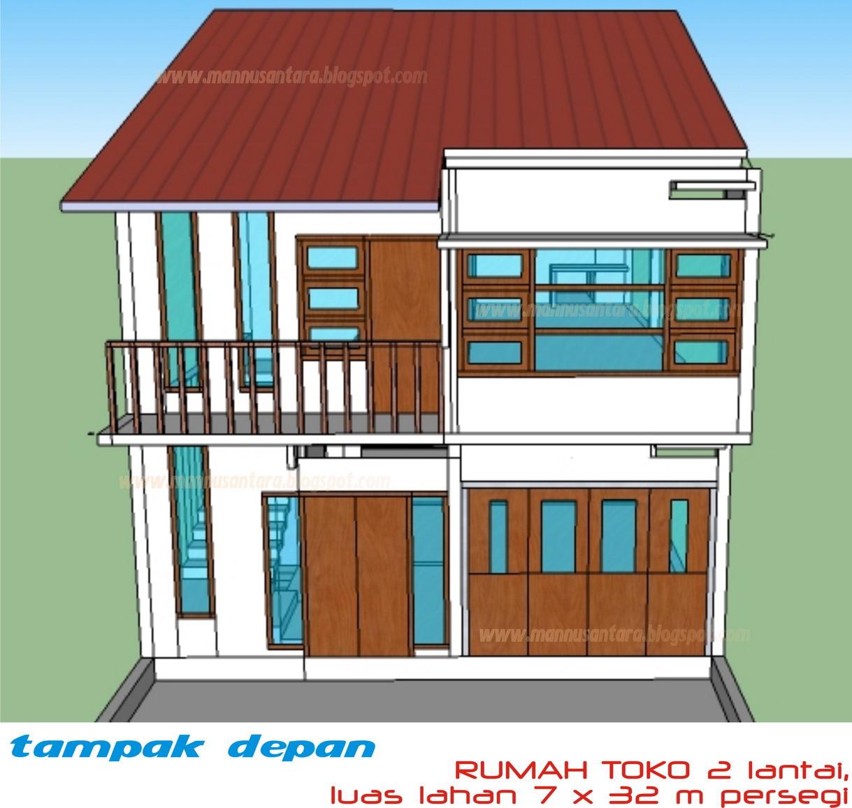 Denah Rumah Dan Toko 2 Lantai Desain Rumah