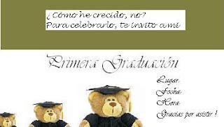 modelos y textos para tarjetas de invitación a graduación en jardín