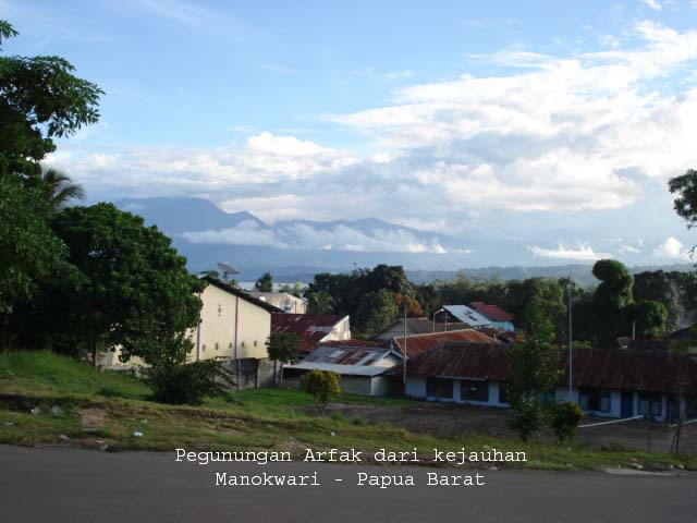 Some part of Arfak range as seen from Panoramaweg (Brawijaya street) in Manokwari