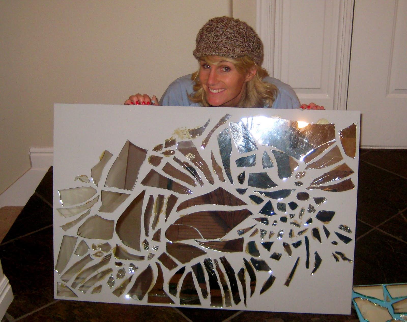 Life of Tracy: Broken Mirror Art