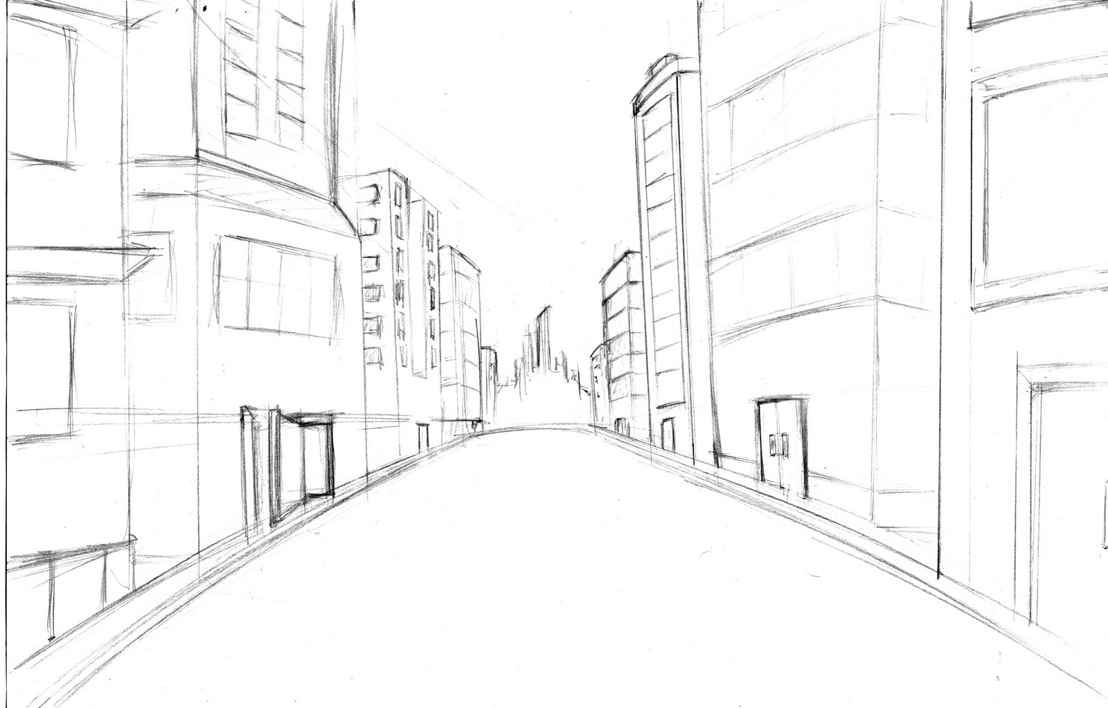 A Easy Drawing Of City Traffic New York City Vector Drawing Sketch