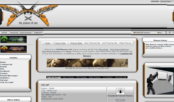 Free Silver Orange phpnuke Website Theme