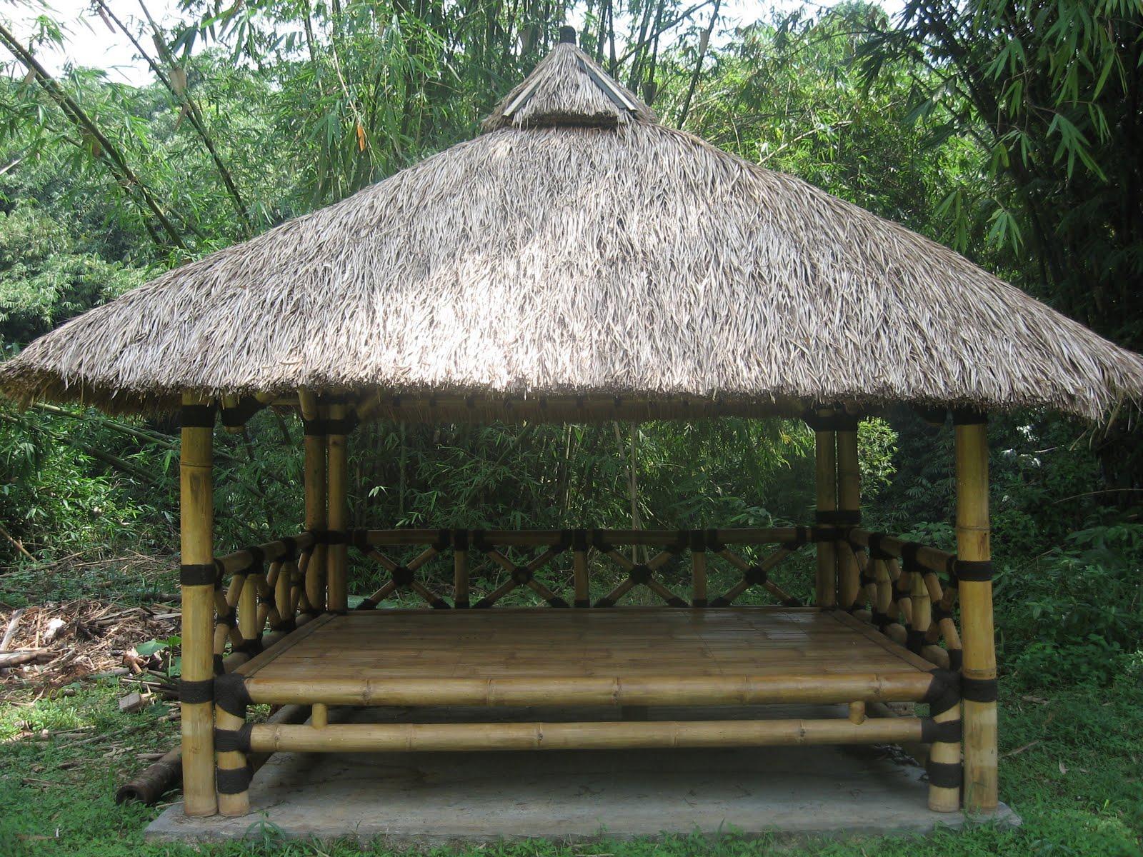 bamboo house GAZEBO  WAKAF