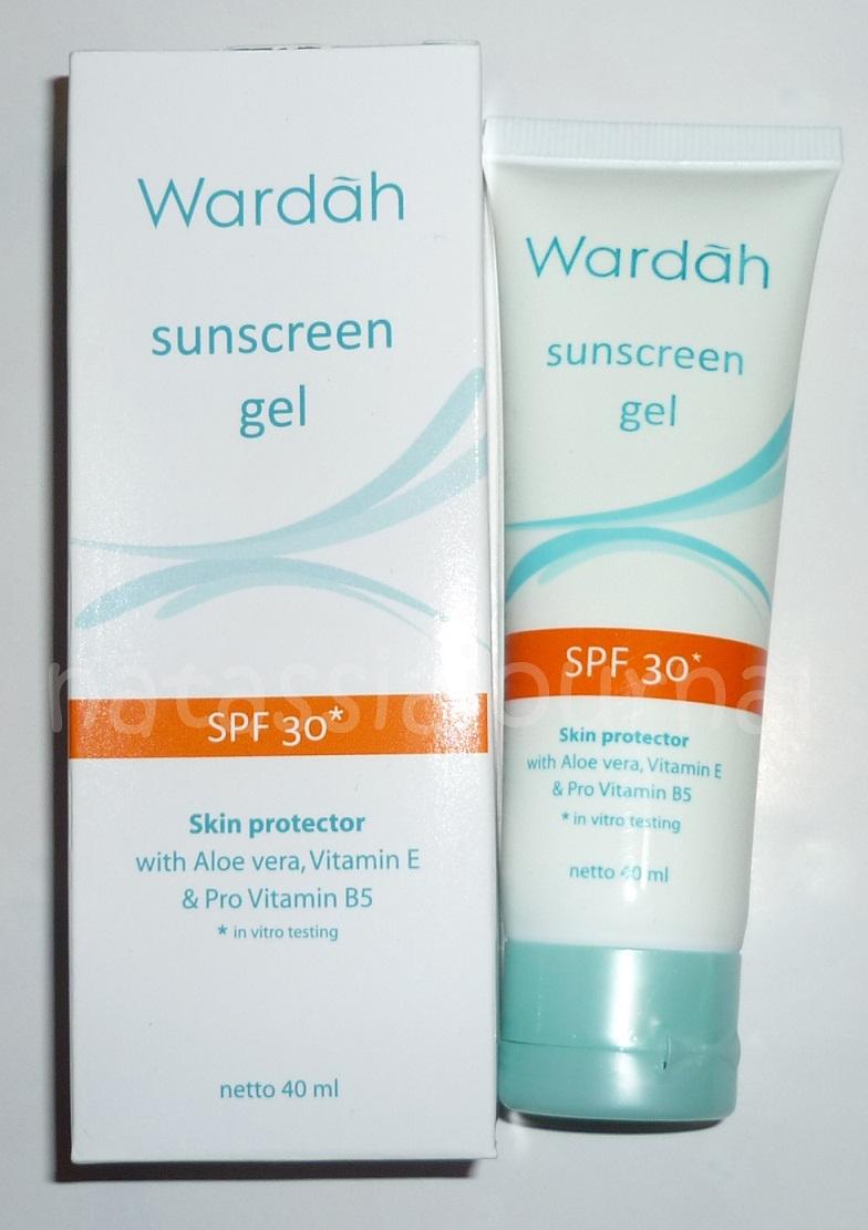 Natassia Journal: Wardah Sunscreen Gel SPF 30