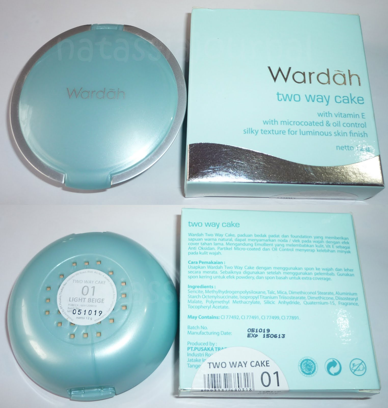Refill Wardah Everyday Luminous Two Way Cake No 1 Light Beige Lightening Feel 03