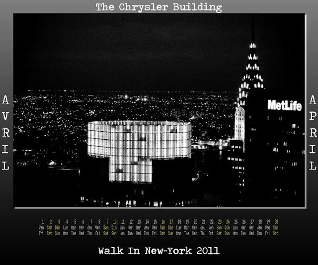 Calendar New York April : Walk in new york calendar april