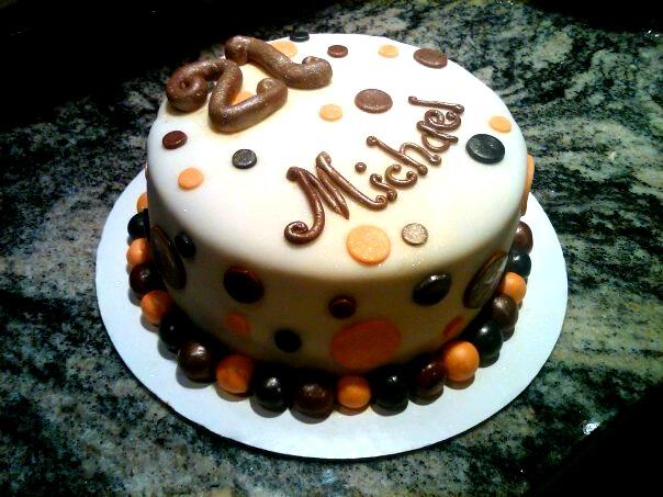 Happy Birthday Michael Vanilla Cake