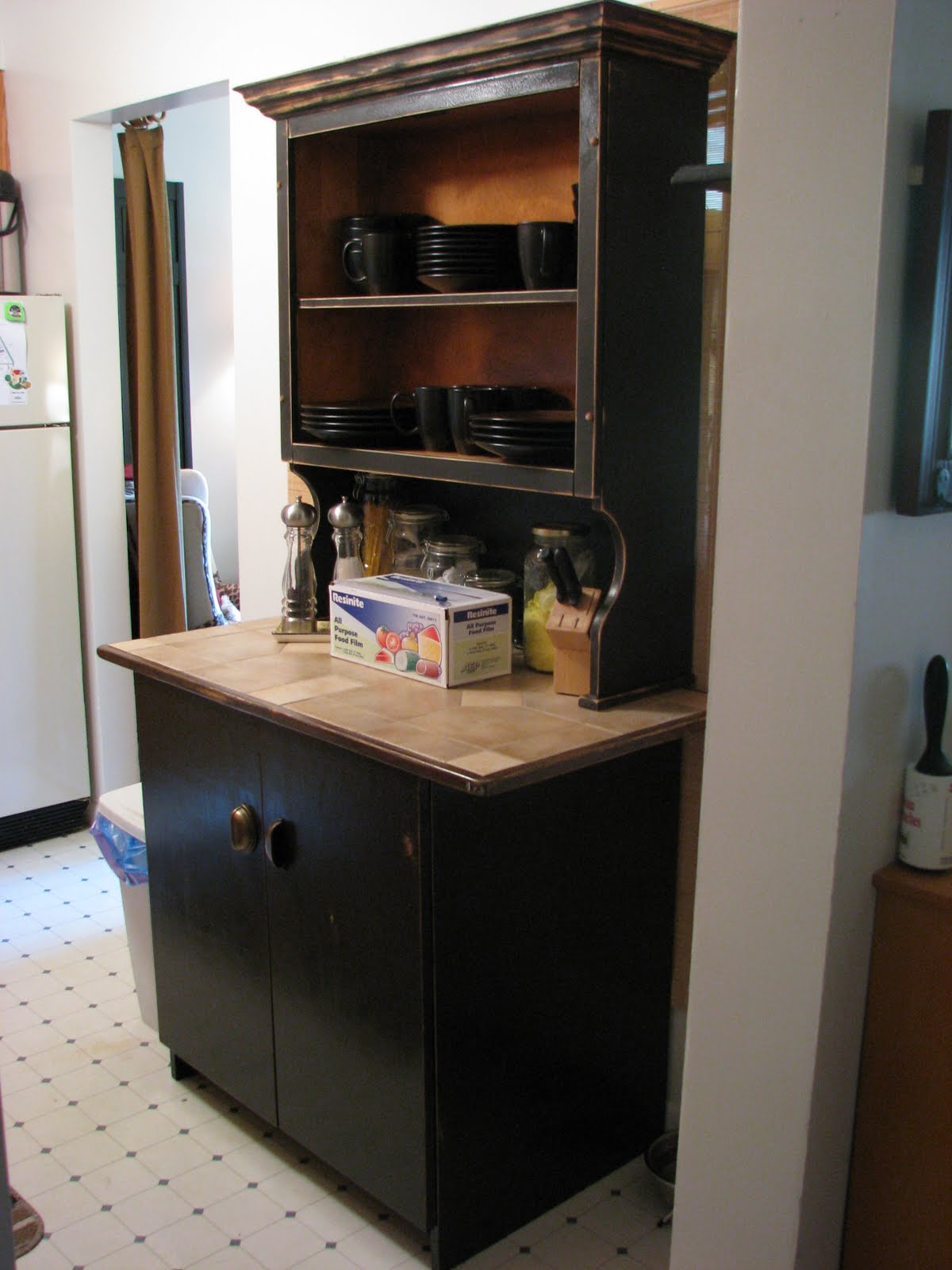 The Crafted Palette Country Style Kitchen Island  Hutch