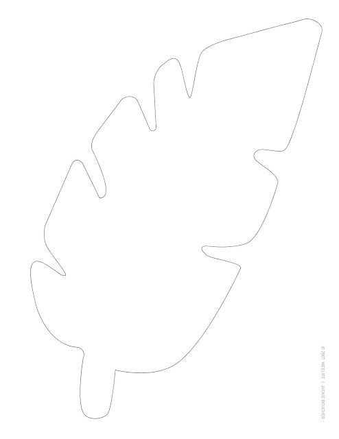 I Made These Simple Leaf Templates For Spud S 3rd Birthday Party And Ve Just Thrown Them Up On Weelife Printables Easy Ing