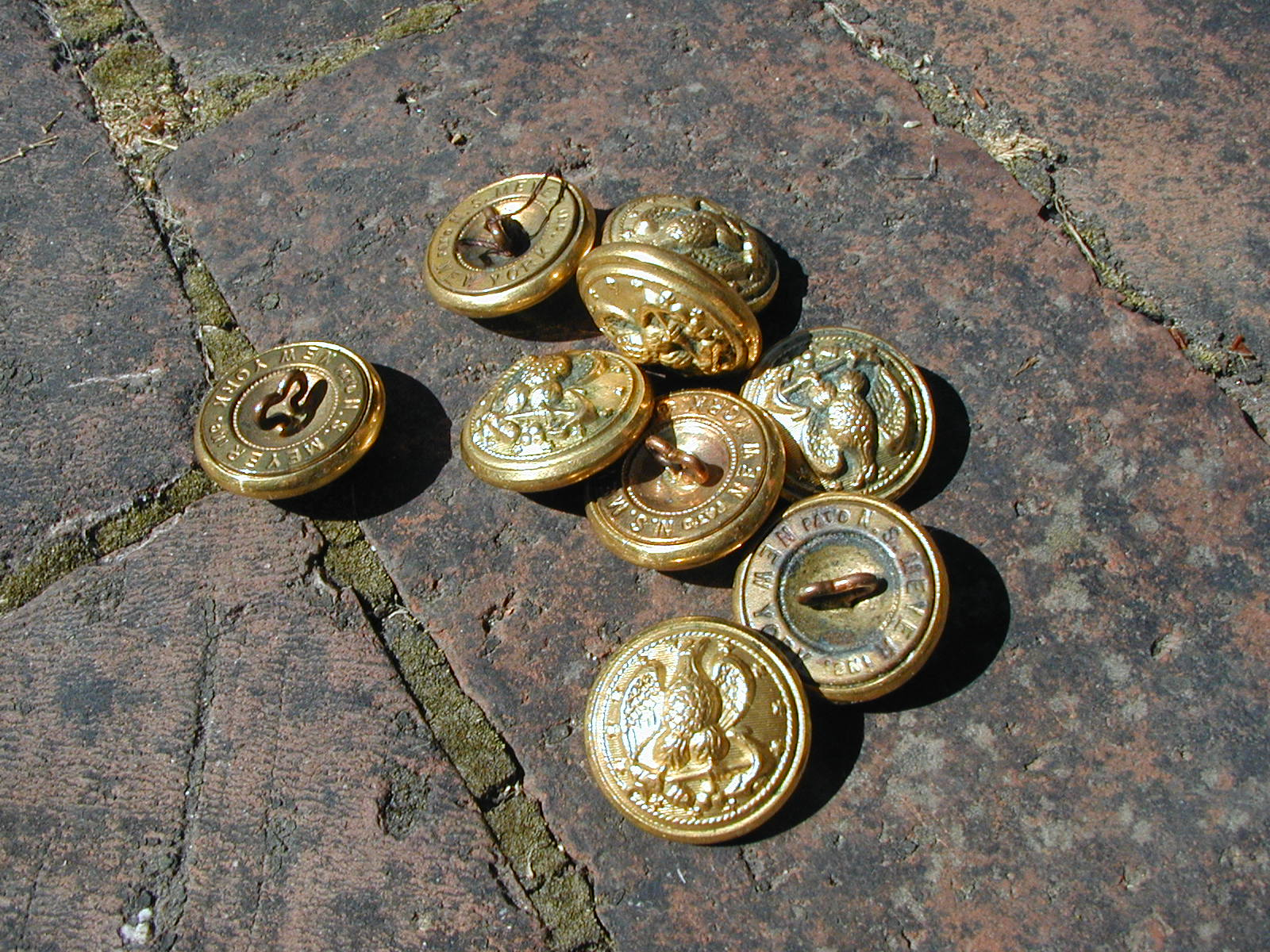 Four Bees: Vintage Navy Buttons