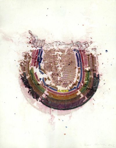 Guillermo Kuitca  Teatro Colon, 2002 Mixed media on paper 38.4 x 32.1 cm