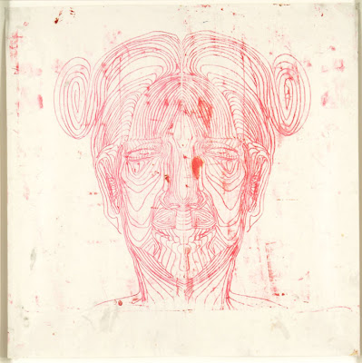 Matthew Monahan  Untitled (Red Face), 1997  oil on paper  99 x 100 cm