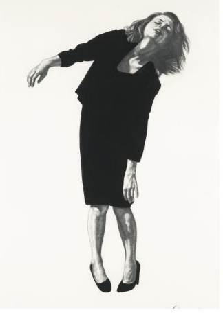 Robert Longo Untitled (From men in the cities) goache and pencil on paper 60.2 x 38 cm each