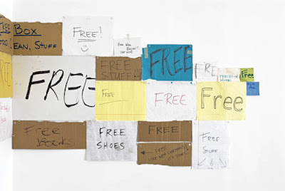 Colter Jacobsen Free, 2008 Found signs (detail) Dimensions variable