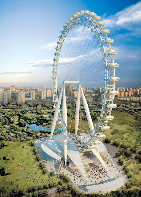 China to build world's highest observation wheel
