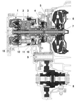 Volvo Series Saloon Automatic Transmission Wiring Diagram