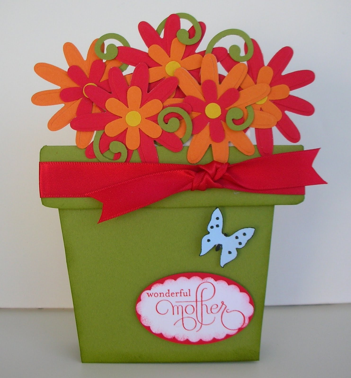 crafting with princess lisa standing flower pot gift card