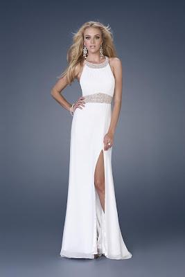 187351e760 Vestido de Graduación de Color Blanco   Vestidos para tu Fiesta