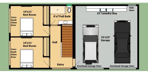 Home surgery plano de casa de 2 pisos 4 dormitorios y for Casa 2 plantas 160 metros cuadrados