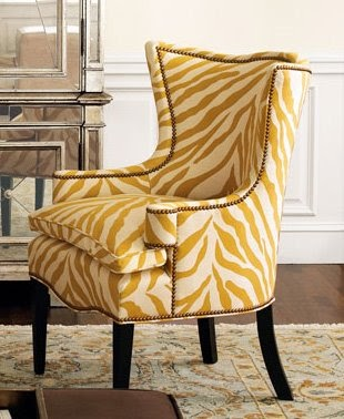Dose Of Design Love It Yellow Zebra Wing Chair