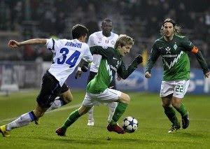 Inter Milan menutup fase grup Liga Champions dengan hasil memalukan Terkini Bremen gasak Inter 3-0