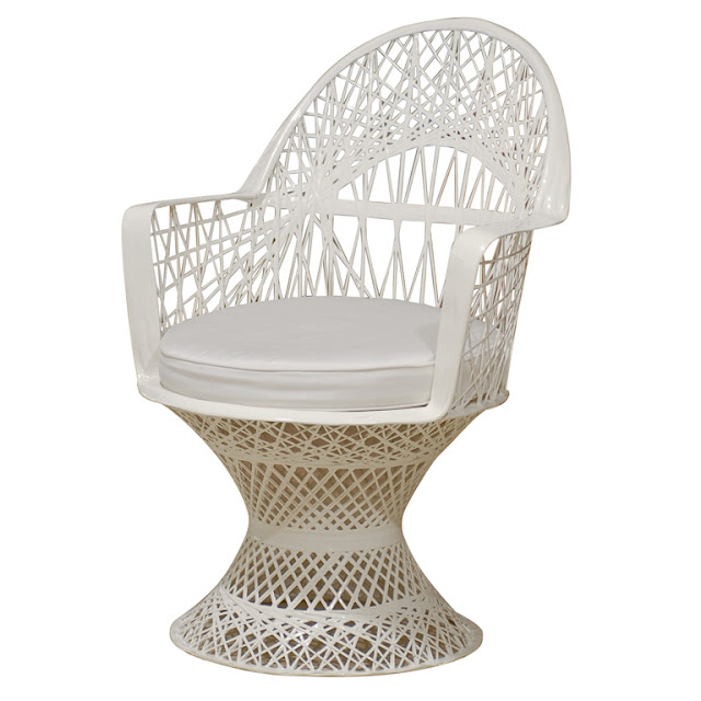 what I'm obsessing on this week: white, fiberglass wicker