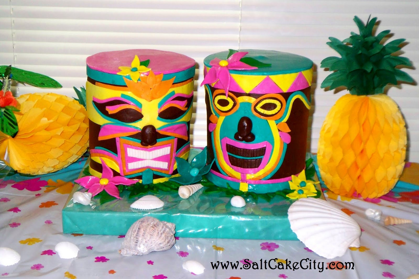 Salt Cake City Very Colorful Tiki Heads