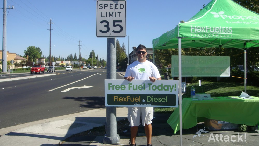 Flex Fuel Gas Stations >> Guerrilla Marketing San Francisco: Promotional Event ...