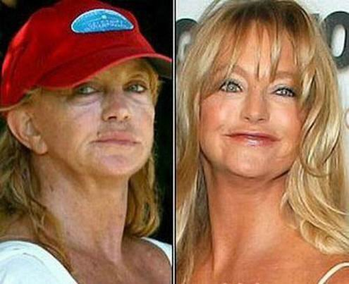 Your place celebrity without makeup before and after