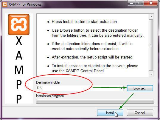 xampp-win32-1.7.3 software