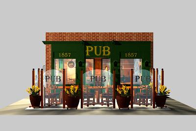 Pub vista lateral (Terraza)