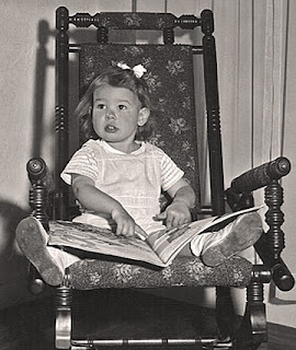 Robin Atkins loved her books as a child; 1944