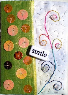 Smile, ATC by Linda Frost