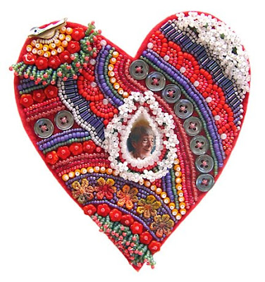 bead enbroidery, heart, by Robin Atkins