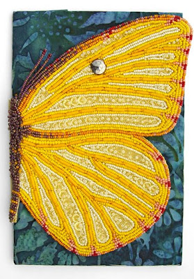 beaded butterfly by Robin Atkins, bead embroidery, bead journal project