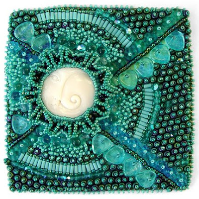 Bead Journal Project, Moon & Sea Spiral by Christy H