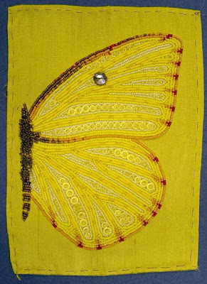 bead journal project, Robin Atkins, beaded wing