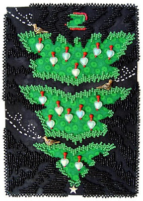 Bead Journal Project, Dec 07, Robin Atkins, Dark Thoughts Pointing at Christmas