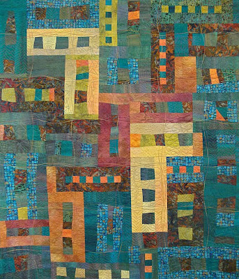 art quilt by Cinda Langjahr, A Clearing in the Woods